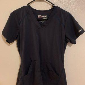 Grey greys anatomy scrub top